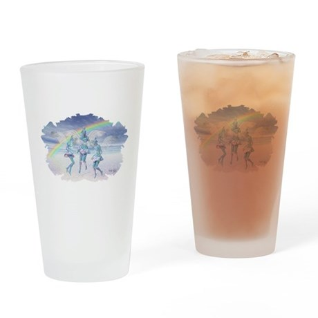 Angels and Rainbows Drinking Glass