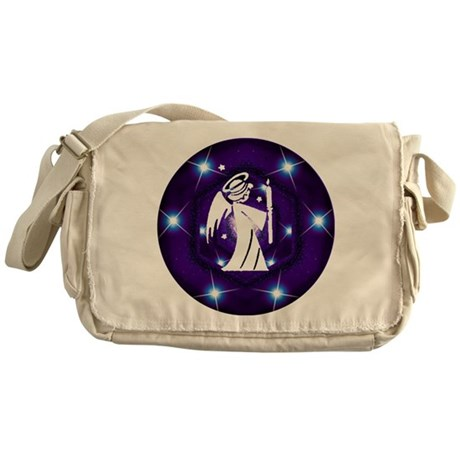 Starry Night Angel Messenger Bag