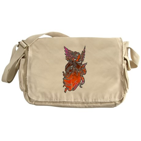 Pretty Orange Angel Messenger Bag