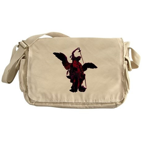 Powerful Angel - Red Messenger Bag