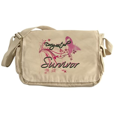 Pink Ribbon Survivor Messenger Bag