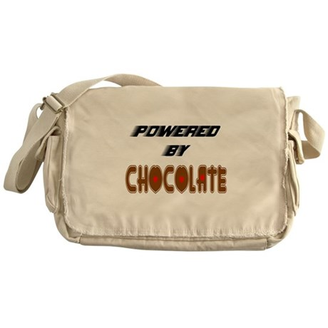 Powered by Chocolate Messenger Bag