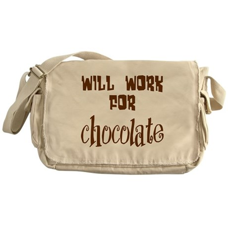 Work for Chocolate Messenger Bag