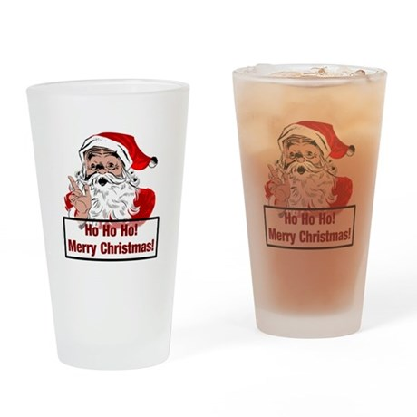 Santa Clause Drinking Glass