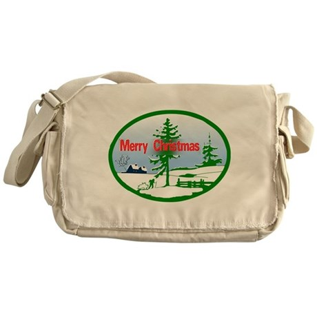 Winter Scene Messenger Bag