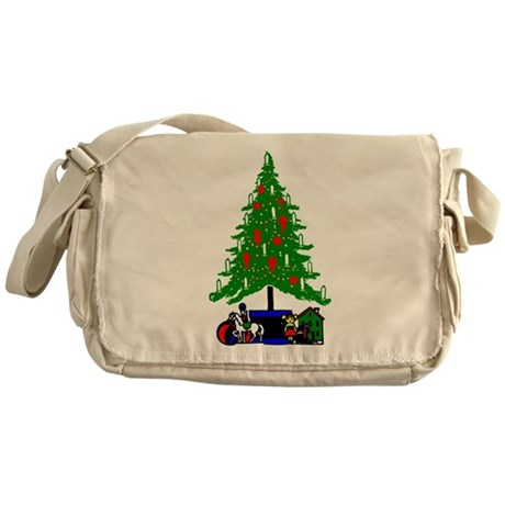 Christmas Tree Messenger Bag