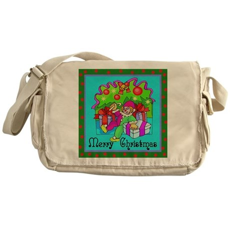 Merry Christmas Clown Messenger Bag