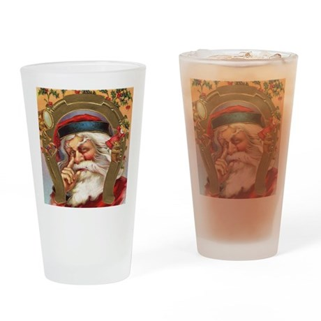 Vintage Santa Drinking Glass