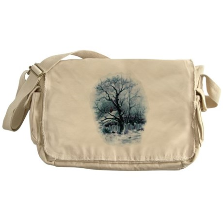 Winter Snowscene Messenger Bag