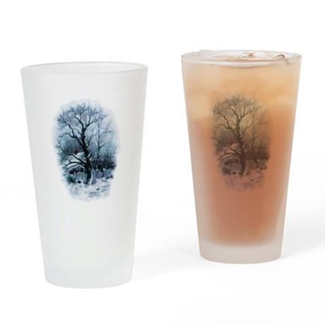 Winter Snowscene Drinking Glass