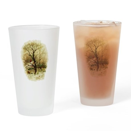 Winter Scene Drinking Glass
