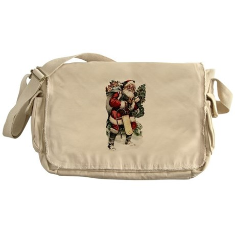 Vintage Santa Messenger Bag