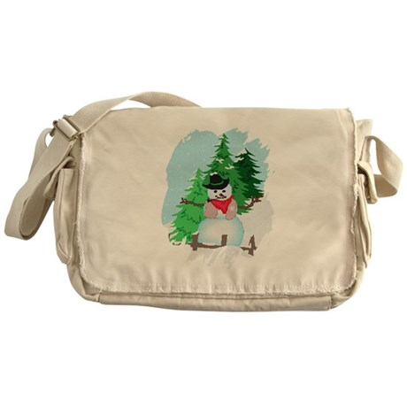 Forest Snowman Messenger Bag