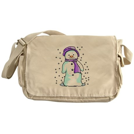 Happy Snowman Messenger Bag
