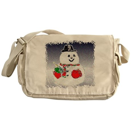 Winter Snowman Messenger Bag