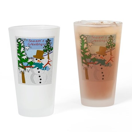 Season's Greetings Drinking Glass