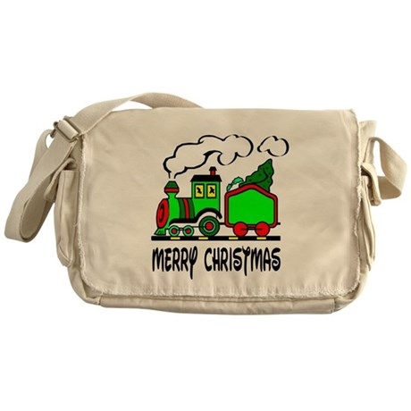 Christmas Train Messenger Bag