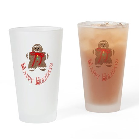 Gingerbread Holidays Drinking Glass