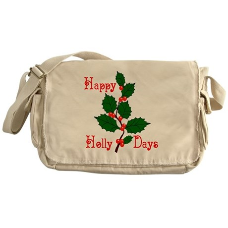 Happy Holly Days Messenger Bag