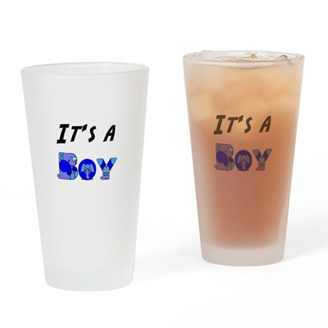 It's a BOY Drinking Glass