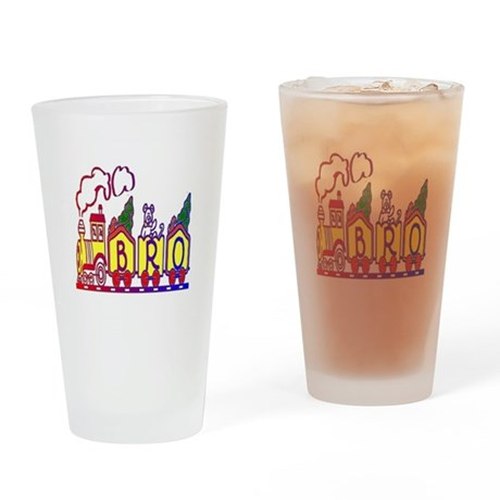 Bro Train Drinking Glass