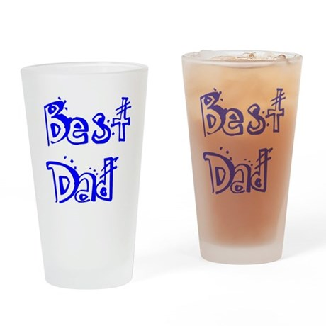 Father's Day Best Dad Drinking Glass