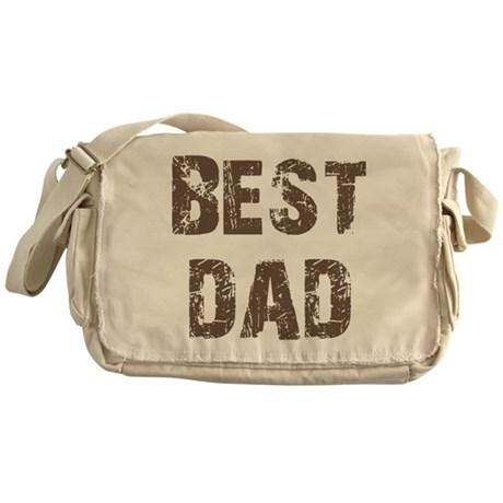 Best Dad Father's Day Brown Messenger Bag
