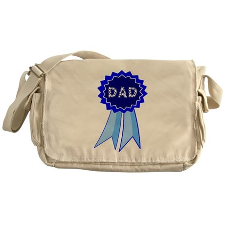 Dad's Blue Ribbon Messenger Bag