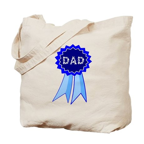 Dad's Blue Ribbon Tote Bag