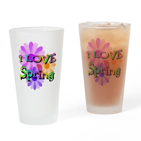 Love Spring Drinking Glass
