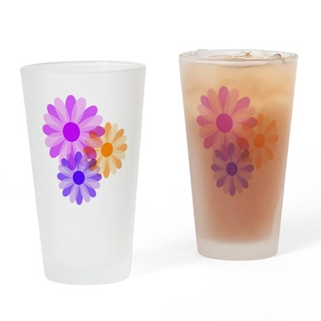 Flowers Drinking Glass