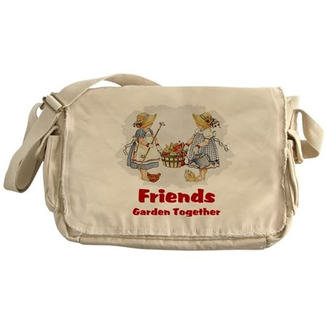Friends Garden Together Messenger Bag