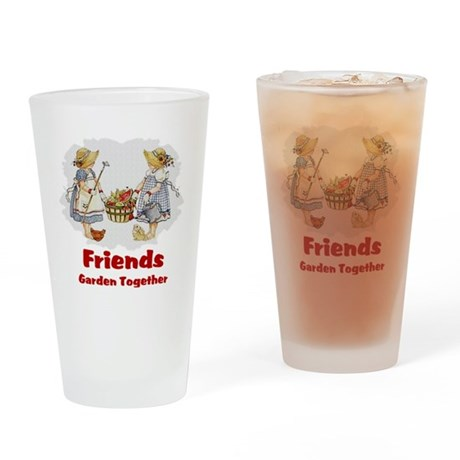 Friends Garden Together Drinking Glass