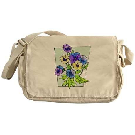 Pansy Messenger Bag