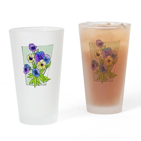 Pansy Drinking Glass