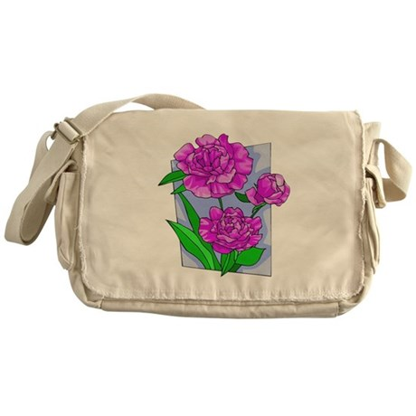 Pink Peonies Messenger Bag