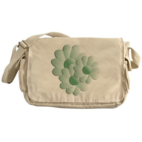 Pretty Daisy Trio - Green Messenger Bag