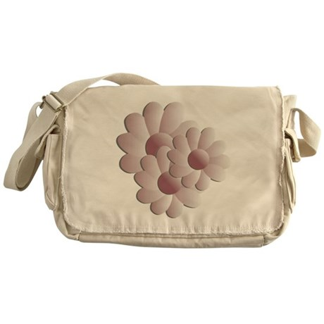 Pretty Daisy Trio - Pink Messenger Bag