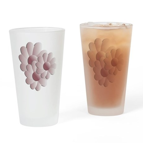 Pretty Daisy Trio - Pink Drinking Glass