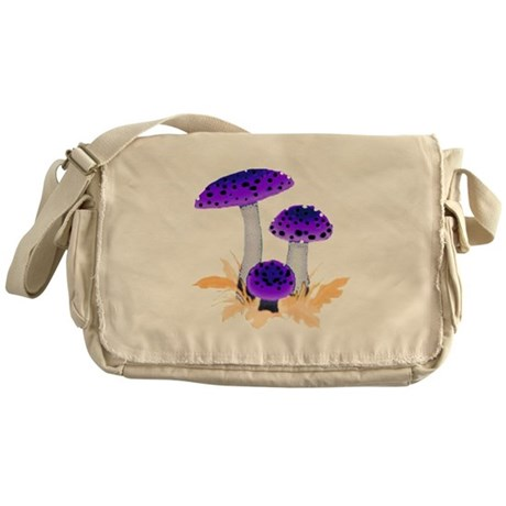 Purple Mushrooms Messenger Bag