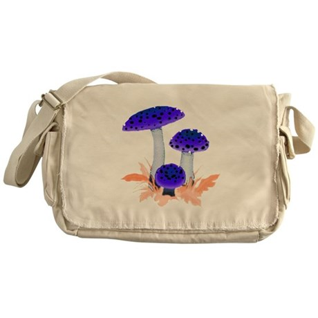 Blue Mushrooms Messenger Bag