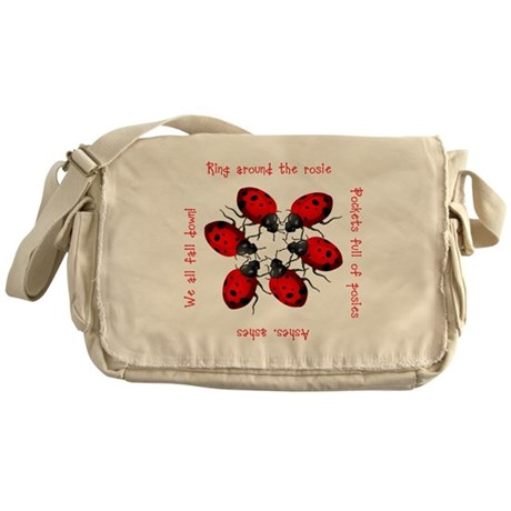 Ladybugs Playing Messenger Bag