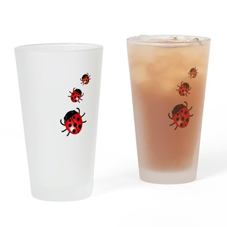 Ladybugs Drinking Glass