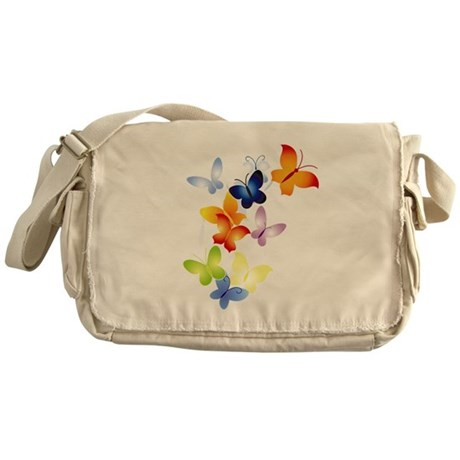 Butterfly Cluster Messenger Bag