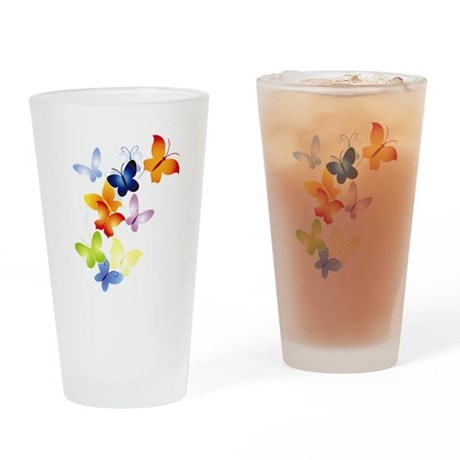Butterfly Cluster Drinking Glass