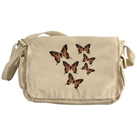 Orange Butterflies Messenger Bag