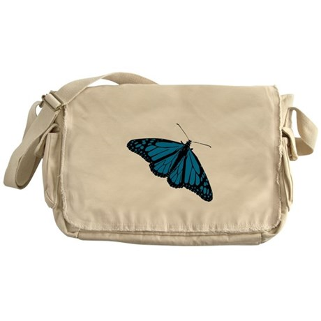 Blue Butterfly Messenger Bag