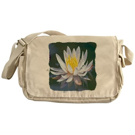 Lotus Blossom Messenger Bag