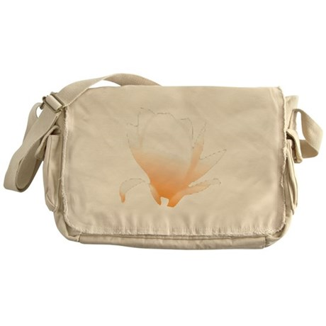 Pastel Orange Bloom Messenger Bag