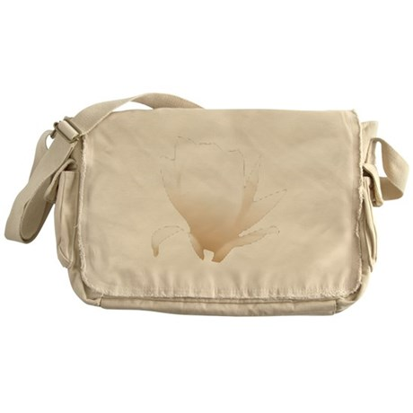 White Lily Messenger Bag